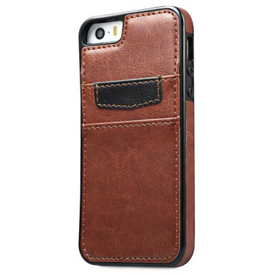 Leather Wallet Card Slot Back Case Cover for iPhone 5 / 5s / SE