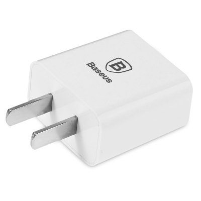 Baseus 2.1A Letour Charger AdapteriPhone Cables &amp; Adapters<br>Baseus 2.1A Letour Charger Adapter<br><br>Brand: Baseus<br>Type: Adapters<br>Material ( Cable&amp;Adapter): Metal,PC<br>Color: White<br>Plug: CN Plug<br>Input: AC 100 - 240V<br>Output: DC 5V / 2.1A (max)<br>Product weight: 0.028KG<br>Package weight: 0.080 KG<br>Product size (L x W x H): 5.20 x 3.60 x 2.08 cm / 2.05 x 1.42 x 0.82 inches<br>Package size (L x W x H): 15.00 x 7.00 x 2.50 cm / 5.91 x 2.76 x 0.98 inches<br>Package Contents: 1 x Baseus 2.1A USB Charger Adapter