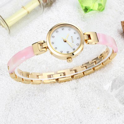 KEZZI Japan Quartz Shell Face Shiny Diamond Female WatchWomens Watches<br>KEZZI Japan Quartz Shell Face Shiny Diamond Female Watch<br><br>Brand: Kezzi<br>Watches categories: Female table<br>Available color: Beige,Pink,Rose Red,White<br>Style: Diamond,Fashion&amp;Casual<br>Movement type: Quartz watch<br>Shape of the dial: Round<br>Display type: Analog<br>Case material: Alloy<br>Band material: Alloys<br>Clasp type: Sheet folding clasp<br>The dial thickness: 1.1 cm / 0.43 inches<br>The dial diameter: 2.4 cm / 0.94 inches<br>The band width: 0.7 cm / 0.28 inches<br>Product weight: 0.040KG<br>Package weight: 0.070 KG<br>Product size (L x W x H): 21.00 x 2.50 x 1.10 cm / 8.27 x 0.98 x 0.43 inches<br>Package size (L x W x H): 22.00 x 3.50 x 2.10 cm / 8.66 x 1.38 x 0.83 inches<br>Package Contents: 1 x KEZZI Female Watch