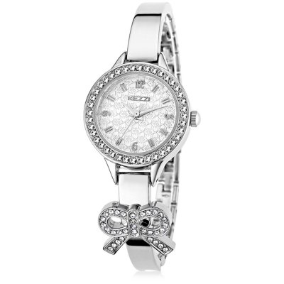 KEZZI Japan Quartz Shiny Diamond Bowknot Female Watch