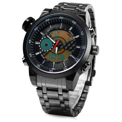 931B Multifunctional Dual Movt Male LED Sports Watch