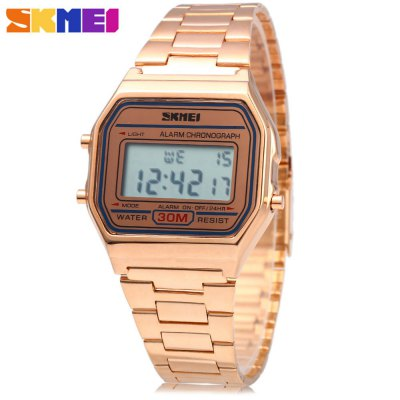 SKMEI 1123 Men Business LED Digital Watch Luxury Causal Water Resistant Wristwatch