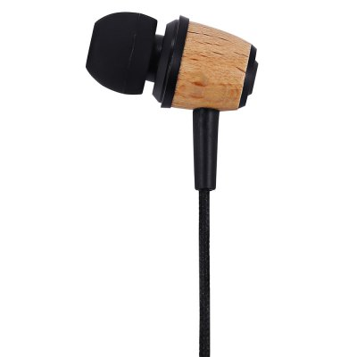 Awei ES  -  Q9 Wood Design 1.2m Canvas Cable Noise Isolation In - ear Earphone for Smartphone Tablet PC