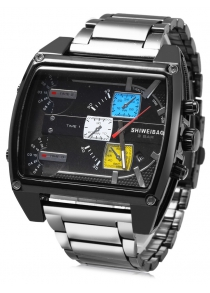 Shiweibao 4143 Male 3-movt Quartz Watch with Date Function
