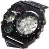 best Oulm Dual Quartz Movt Male Watch with Compass Function