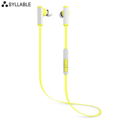 Syllable D300 Bluetooth In-ear Sport Earbuds with Mic Song SwitchSports &amp; Fitness Headphones<br>Syllable D300 Bluetooth In-ear Sport Earbuds with Mic Song Switch<br><br>Brand: Syllable<br>Model: D300<br>Color: Blue,Orange,Pink,Yellow<br>Wearing type : In-Ear<br>Function: Answering Phone,Bluetooth,Microphone,Song Switching,Voice control<br>Connectivity : Wireless<br>Connecting interface : Micro USB<br>Application: Mobile phone,Sport<br>Cable Length (m): 0.5M<br>Sound channel: Two-channel (stereo)<br>Frequency response: 20-20000Hz<br>Impedance: 32ohms<br>Talk time: 5h<br>Music Time: 5h<br>Standby time: 120h<br>FM frequency range: 2.401-2.480GHz<br>Bluetooth: Yes<br>Bluetooth version: V4.1<br>Bluetooth distance: W/O obstacles 10m<br>Bluetooth protocol: A2DP,AVRCP,HFP,HSP<br>Product weight: 0.015 kg<br>Package weight: 0.147 kg<br>Package size (L x W x H): 2.60 x 6.80 x 19.30 cm / 1.02 x 2.68 x 7.60 inches<br>Package Contents: 1 x Earbuds, 1 x Charging Cable, 1 x English User Manual