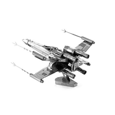 X-wing Warplane Metal 3D PuzzleModel &amp; Building Toys<br>X-wing Warplane Metal 3D Puzzle<br><br>Gender: Unisex<br>Materials: Metal<br>Package Contents: 1 x 3D Puzzle Set, 1 x English Manual<br>Package size: 17.00 x 11.00 x 0.20 cm / 6.69 x 4.33 x 0.08 inches<br>Package weight: 0.0790 kg<br>Stem From: Europe and America<br>Style: Figure Statue, Military<br>Theme: Fantasy and Sci-fi,Movie and TV<br>Type: 3D Puzzle