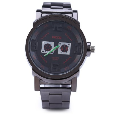 Picco A1443 Decorative Sub-dials Quartz Male WatchMens Watches<br>Picco A1443 Decorative Sub-dials Quartz Male Watch<br><br>Brand: Picco<br>Watches categories: Male table<br>Watch style: Fashion<br>Available color: Blue,Green,Red,White,Yellow<br>Movement type: Quartz watch<br>Shape of the dial: Round<br>Display type: Analog<br>Case material: Alloy<br>Band material: Steel<br>Clasp type: Folding clasp with safety<br>Special features: Decorating small sub-dials<br>The dial thickness: 1.3 cm / 0.51 inches<br>The dial diameter: 4.3 cm / 1.69 inches<br>The band width: 2.0 cm / 0.79 inches<br>Product weight: 0.113 kg<br>Package weight: 0.143 kg<br>Product size (L x W x H): 23.00 x 5.00 x 1.30 cm / 9.06 x 1.97 x 0.51 inches<br>Package size (L x W x H): 12.00 x 6.00 x 3.00 cm / 4.72 x 2.36 x 1.18 inches<br>Package Contents: 1 x Male Watch
