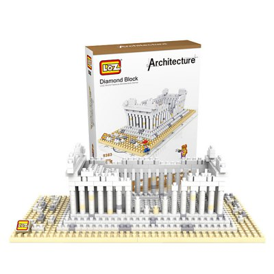 LOZ 9383 Greek Temple Diamond Building Block Educational Toy 600Pcs - World Great Architecture Series