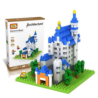 LOZ 9380 New Swan Stone Castle Diamond Building Block Educational Toy 550Pcs - World Great Architecture Series