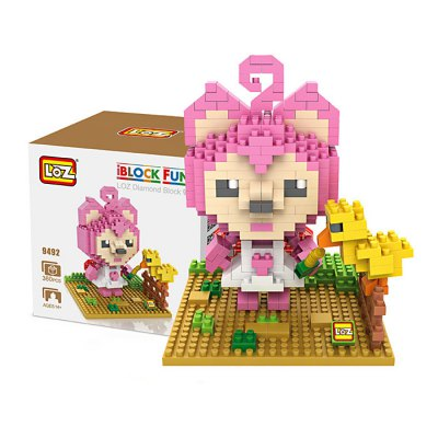 LOZ 9492 Mini Taozi Female Fox Diamond Building Block 380Pcs Educational Toy