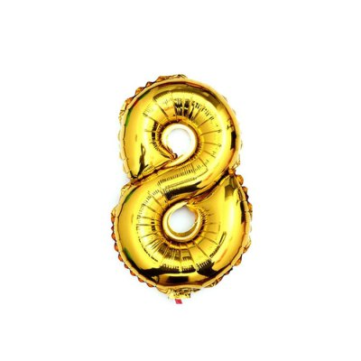 16 inch Aluminum Foil Solid-colored Number Balloon Birthday Wedding Decoration