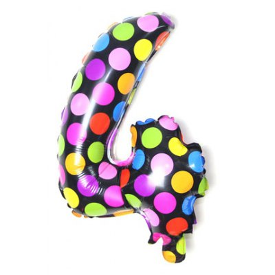 Pantong 16 inch Foil Number Balloon