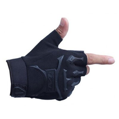 Half Finger Sport Glove with Sun-care Rubber for Cycling Climbing Parkour One Pair