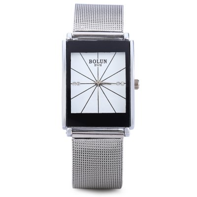BOLUN B1418 4 Diamond Dots Strips Scale Quartz Ladies WatchWomens Watches<br>BOLUN B1418 4 Diamond Dots Strips Scale Quartz Ladies Watch<br><br>Watches categories: Female table<br>Available color: Brown,White<br>Style: Fashion&amp;Casual<br>Movement type: Quartz watch<br>Shape of the dial: Rectangle<br>Display type: Analog<br>Case material: Alloy<br>Band material: Steel<br>Clasp type: Pin buckle<br>The dial thickness: 1.0 cm / 0.39 inches<br>The dial diameter: 2.8 cm / 1.10 inches<br>The band width: 2.0 cm / 0.79 inches<br>Wearable length: 16.5 - 21.0 cm / 6.50 - 8.27 inches<br>Product weight: 0.050 kg<br>Package weight: 0.080 kg<br>Product size (L x W x H): 23.00 x 2.80 x 1.00 cm / 9.06 x 1.10 x 0.39 inches<br>Package size (L x W x H): 24.00 x 3.80 x 2.00 cm / 9.45 x 1.50 x 0.79 inches<br>Package Contents: 1 x Female Watch