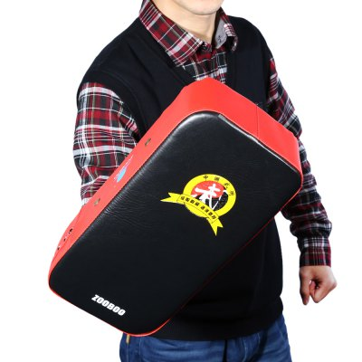 Zooboo PU Leather Square Punching Kicking Foot Pad Target MMA Boxing Mitt Focus Punch Pad (One Piece)
