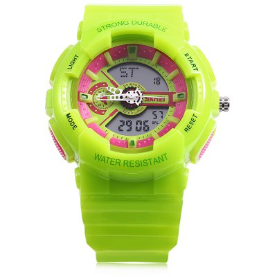 Skmei 1052 Children Watch WristwatchKids Watches<br>Skmei 1052 Children Watch Wristwatch<br><br>Watches categories: Children watch<br>Watch style: Casual<br>Style elements: Big dial<br>Movement type: Digital watch<br>Shape of the dial: Circular<br>Display type: Analog<br>The bottom of the table: Ordinary<br>Case material: ABS<br>Watch-head: Ordinary<br>Band material: PU<br>Clasp type: Buckle<br>Water resistance : 50 meters<br>Special features: Alarm Clock,Calendar,Date,Day,Week<br>The dial thickness: 16mm<br>The dial diameter: 42mm<br>The band width: 19mm<br>Wearable length: 230mm<br>Product weight: 0.045KG<br>Package weight: 0.075 KG<br>Product size (L x W x H): 23.00 x 4.20 x 1.60 cm / 9.06 x 1.65 x 0.63 inches<br>Package size (L x W x H): 24.00 x 5.20 x 2.60 cm / 9.45 x 2.05 x 1.02 inches<br>Package Contents: 1 x Skmei 1138 Children Watch Wristwatch