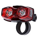 Bike Bicycle 2 LED Tail Light Safety Back Rear Lamp