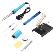 New products gadgets 9 in 1 DIY Electric Soldering Iron Starter Tool Kit Set with Iron Stand Desoldering Pump
