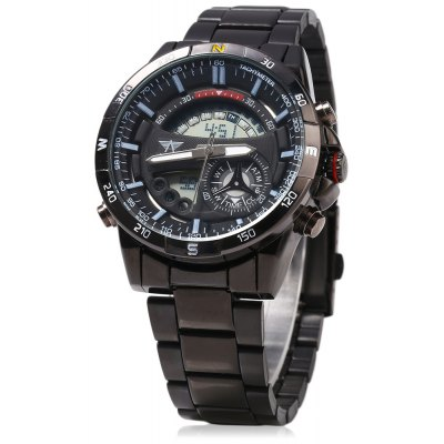 AMST AM3009 LED Stopwatch Day Date Quartz Male Watch