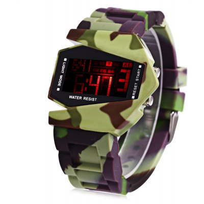 LED Sports Multi-function Airplane Shape Dial Watch