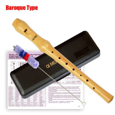 Qimei Treble Recorder Portable 8 Hole Clarinet High Quality Wooden German / Baroque Type