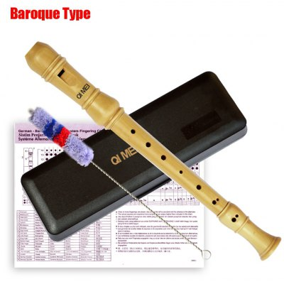 Qimei Treble Recorder Portable 8 Hole Clarinet High Quality Wooden