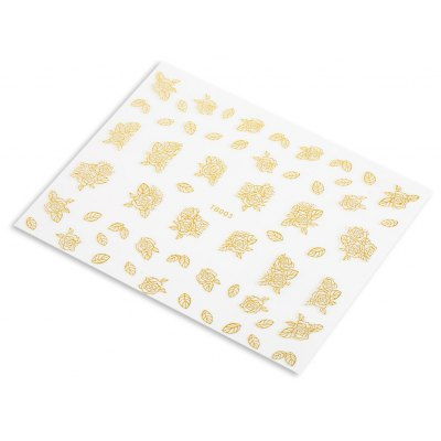 10 pcs Gold Silver Jewelry Nail Art Decoration Sticker