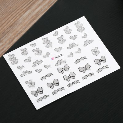 50pcs Fashion 3D DIY Black Decal Nail Art Decoration StickerNail Sticker<br>50pcs Fashion 3D DIY Black Decal Nail Art Decoration Sticker<br><br>Features: Easy to Carry,Lightweight,No Poison<br>Functions: Comestic for Party<br>Main Features: Trendy<br>Product weight: 0.005 kg<br>Package weight: 0.015 kg<br>Package size (L x W x H): 13.50 x 11.00 x 1.00 cm / 5.31 x 4.33 x 0.39 inches<br>Package Contents: 50 Pcs x Piece Nail Art Decoration Sticker