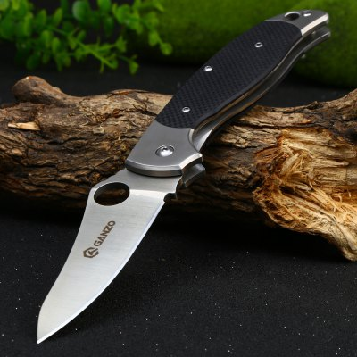 Ganzo G7371-BK Portable Frame Lock Pocket Knife