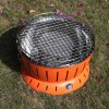 Round Barrel Shaped Smokeless Barbecue Grill deal