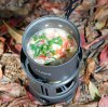ALOCS Camping Cookware Pot with Silicone Cover Handle