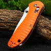 best Ganzo G7392P-OR Portable Axis Lock Pocket Knife