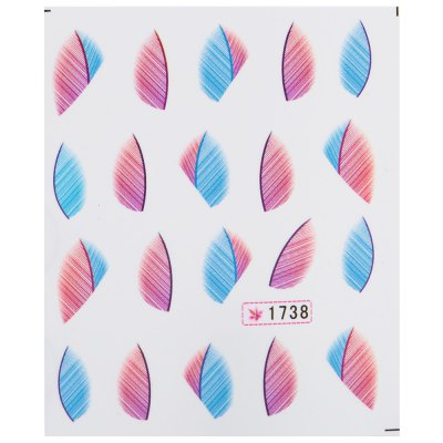 Фотография 50pcs Fashionable Art Tips Feather Water Transfers Nail Sticker for Ladies