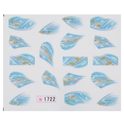 50pcs Fashionable Art Tips Feather Water Transfers Nail Sticker for Ladies