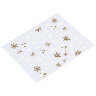 50pcs Water Transfer Snowflake Design Nail Sticker