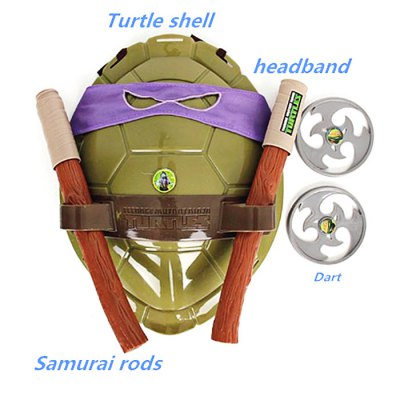 HQF TMNT Wearable Turtles Armor Shell Weapon Toy Cosplay PropsMovies &amp; TV Action Figures<br>HQF TMNT Wearable Turtles Armor Shell Weapon Toy Cosplay Props<br><br>Completeness: Finished Goods<br>Gender: Unisex<br>Materials: Plastic<br>Package Contents: 1 x Turtle Shell, 1 x Weapon Set<br>Package size: 40.00 x 30.00 x 10.00 cm / 15.75 x 11.81 x 3.94 inches<br>Package weight: 0.400 kg<br>Stem From: Europe and America<br>Theme: Movie and TV