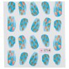 cheap 10pcs Fashionable Art Tips Feather Water Transfers Nail Sticker for Ladies