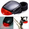 cheap 2 LED 3 Mode Solar Power Rechargeable Bicycle Tail Light