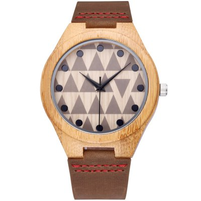 JIANGYUYAN 3772 Bamboo Case Male Quartz Watch Genuine Leather StrapMens Watches<br>JIANGYUYAN 3772 Bamboo Case Male Quartz Watch Genuine Leather Strap<br><br>Brand: JIANGYUYAN<br>Watches categories: Male table<br>Available color: Coffee<br>Movement type: Quartz watch<br>Shape of the dial: Round<br>Display type: Analog<br>Case material: Bamboo<br>Band material: Genuine Leather<br>Clasp type: Pin buckle<br>The dial thickness: 1.16 cm / 0.46 inches<br>The dial diameter: 4.53 cm / 1.78 inches<br>The band width: 2.19 cm / 0.86 inches<br>Wearable length: 23.3 cm / 9.17 inches<br>Product weight: 0.030 kg<br>Package weight: 0.060 kg<br>Product size (L x W x H): 25.50 x 4.55 x 1.16 cm / 10.04 x 1.79 x 0.46 inches<br>Package size (L x W x H): 26.50 x 3.19 x 2.16 cm / 10.43 x 1.26 x 0.85 inches<br>Package Contents: 1 x Male Watch