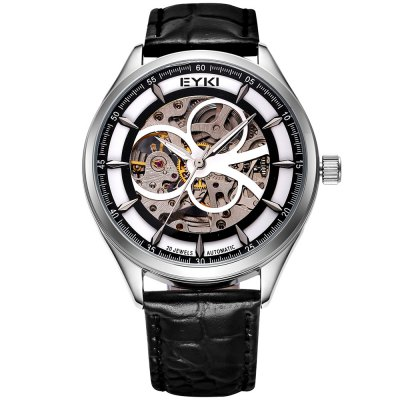 ФОТО EYKI 3798 Unisex Hollow-out Automatic Mechanical Movt Watch
