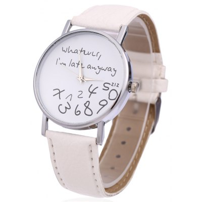 Letter Number Pattern Female Quartz Watch