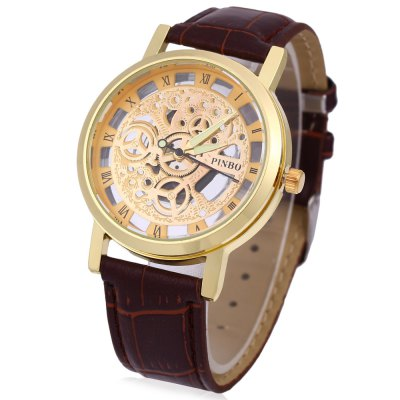 Pinbo Men Holllow Quartz Watch