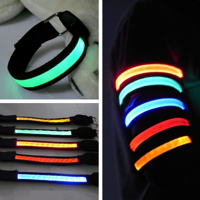 3 Mode 1 LED Safety Reflective Armband for Night Cycling