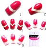 cheap 3 in 1 Stylish Nail Art Tips Finger Stickers