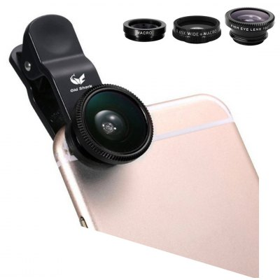 Old Shark 3-in-1 Phone Lens Kit