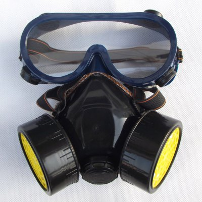 Antigas Dustproof Double Filter Gas Protection Mask For