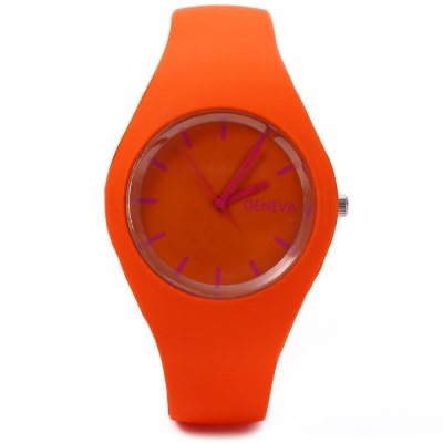 Quartz Watch Ultrathin Sports Wristwatch for WomenWomens Watches<br>Quartz Watch Ultrathin Sports Wristwatch for Women<br><br>Watches categories: Female table<br>Style: Fashion&amp;Casual,Outdoor Sports<br>Movement type: Quartz watch<br>Shape of the dial: Round<br>Display type: Analog<br>Case material: Rubber<br>Band material: Silicone<br>Clasp type: Pin buckle<br>The dial thickness: 0.7 cm / 0.28 inches<br>The dial diameter: 4 cm / 1.57 inches<br>The band width: 1.8 cm / 0.71 inches<br>Wearable length: 15 - 21 cm / 5.91 - 8.27 inches<br>Product weight: 0.033KG<br>Package weight: 0.073 KG<br>Product size (L x W x H): 23.00 x 4.00 x 2.00 cm / 9.06 x 1.57 x 0.79 inches<br>Package size (L x W x H): 24.00 x 5.00 x 3.00 cm / 9.45 x 1.97 x 1.18 inches<br>Package Contents: 1 x Women Quartz Watch