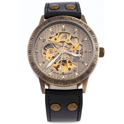 Shenhua 9259 Hollow Mechanical Watch for MenMens Watches<br>Shenhua 9259 Hollow Mechanical Watch for Men<br><br>Brand: SHENHUA<br>Watches categories: Male table<br>Watch style: Retro<br>Style elements: Hollow Out<br>Movement type: Automatic mechanical watch<br>Shape of the dial: Round<br>Display type: Analog<br>Hour formats: 12 Hour<br>Case material: Stainless Steel<br>Band material: Leather<br>Clasp type: Pin buckle<br>Water resistance : Life water resistant<br>The dial thickness: 1 cm / 0.39 inches<br>The dial diameter: 4.2 cm / 1.65 inches<br>The band width: 2 cm / 0.79 inches<br>Wearable length: 18 - 23 cm / 7.09 - 90.6 inches<br>Product weight: 0.075 kg<br>Package weight: 0.115 kg<br>Product size (L x W x H): 25.00 x 4.50 x 1.20 cm / 9.84 x 1.77 x 0.47 inches<br>Package size (L x W x H): 26.00 x 5.50 x 2.20 cm / 10.24 x 2.17 x 0.87 inches<br>Package Contents: 1 x Shenhua Men Mechanical Watch