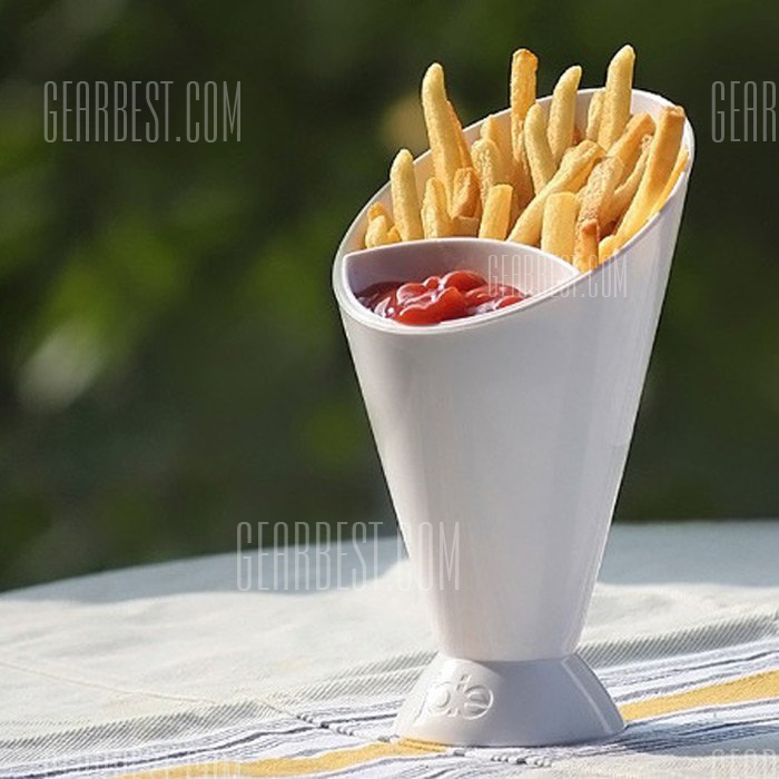French Fry Cone Dipping Cup 2 in 1 Ice Water Mug 170681901